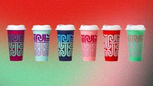 Novos copos de Natal reutilizáveis da Starbucks mudam de cor