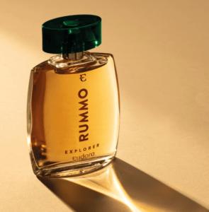 A nova fragrância Eudora Rummo Explorer é um Fougère amadeirado